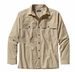 Patagonia Mens Long-Sleeved Island Hopper Shirt Chambray: El Cap Khaki