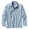 Patagonia Mens Long-Sleeved Island Hopper Shirt Chambray: Leaden Blue