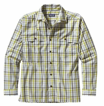 Patagonia Mens Long-Sleeved Island Hopper Shirt Matacumbe: Folios Green (Spring 2014)