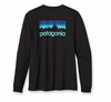 Patagonia Mens Long-Sleeved Line Logo T-Shirt Black