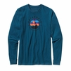 Patagonia Mens Long-Sleeved Moonbeam Bivy Cotton T-Shirt Crater Blue