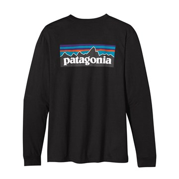 Patagonia Mens Long-Sleeved P-6 Logo T-Shirt Black (Autumn 2013)