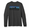 Patagonia Mens Long-Sleeved P-6 Logo T-Shirt Forge Grey