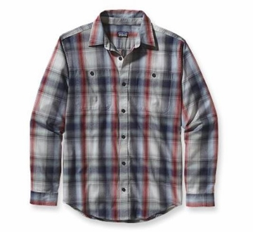 Patagonia Mens Long-Sleeved Pima Cotton Shirt Duncan Ombre: Classic Navy