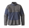 Patagonia Mens Long-Sleeved R1 Field 1/4-Zip Smolder Blue