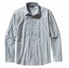 Patagonia Mens Long-Sleeved Sun Stretch Shirt Casitas: Leaden Blue