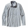 Patagonia Mens Long-Sleeved Sun Stretch Shirt Casitas: Leaden Blue (Spring 2014)