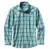 Patagonia Mens Long-Sleeved Sun Stretch Shirt Sespe: Tobago Blue
