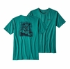 Patagonia Mens No Porpoise Cotton/ Poly T-Shirt True Teal