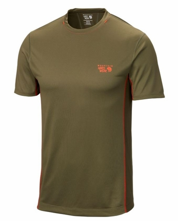 Mountain Hardwear Mens Wicked Lite Short Sleeve Stone Green
