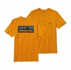 Patagonia Mens P-6 Logo Cotton Pocket T-Shirt Sporty Orange