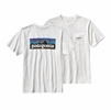 Patagonia Mens P-6 Logo Cotton Pocket T-Shirt White