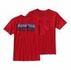 Patagonia Mens P-6 Logo Cotton T-Shirt Cochineal Red