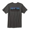 Patagonia Mens P-6 Logo Cotton T-Shirt Forge Grey