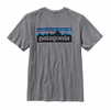Patagonia Mens P-6 Logo Cotton T-Shirt Gravel Heather