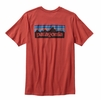 Patagonia Mens P-6 Logo Cotton T-Shirt Sumac Red
