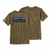 Patagonia Mens P-6 Logo T-Shirt Fatigue Green Large