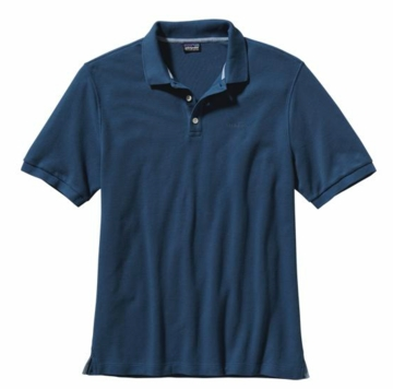 Patagonia Mens Polo Shirt Glass Blue (Spring 2014)