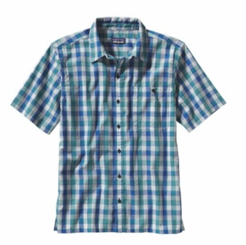 Patagonia Mens Puckerware Shirt Padre Juan: Tobago Blue (Spring 2014)