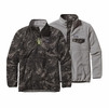 Patagonia Mens Reversible Snap-T Glissade Pullover Storm Front: Black