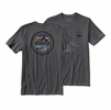 Patagonia Mens Rivet Logo Cotton/ Poly T-Shirt Forge Grey