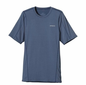 Patagonia Mens Short-Sleeved Outpacer Shirt Glass Blue (Spring 2014)