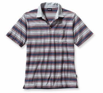 Patagonia Mens Squeaky Clean Polo Shirt Rancho Real: Glass Blue
