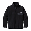 Patagonia Mens Synchilla Snap-T Fleece Pullover Black w/ Rockwall