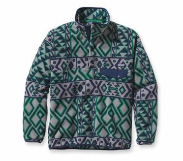 Patagonia Mens Synchilla Snap-T Fleece Pullover Montana Siete: Feather Grey
