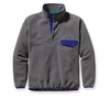 Patagonia Mens Synchilla Snap-T Fleece Pullover Nickel w/ Cobalt Blue