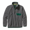 Patagonia Mens Synchilla Snap-T Fleece Pullover Nickel w/ Hunter Green