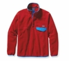 Patagonia Mens Synchilla Snap-T Fleece Pullover Cochineal Red