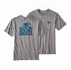 Patagonia Mens Useless Conquest Cotton T-Shirt Gravel Heather