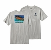 Patagonia Mens World Trout Slurp Cotton T-Shirt Tailored Grey