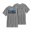 Patagonia P-6 Logo Mens T-Shirt Gravel Heather Large