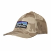 Patagonia P-6 Logo Stretch Fit Hat Forest Camo: El Cap Khaki