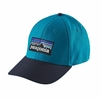 Patagonia P-6 Logo Stretch Fit Hat Grecian Blue