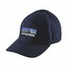 Patagonia P-6 Logo Stretch Fit Hat Navy Blue