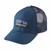 Patagonia P-6 LoPro Trucker Hat Glass Blue