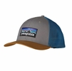 Patagonia P-6 Trucker Hat Feather Grey w/ Bear Brown