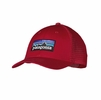Patagonia P6 LoPro Trucker Hat Classic Red