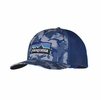Patagonia P6 Trucker Hat Big Camo: Leaden Blue