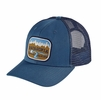 Patagonia Pointed West Trucker Hat Glass Blue