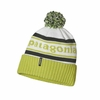 Patagonia Powder Town Beanie Park Stripe: Birch White