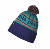 Patagonia Powder Town Beanie Park Stripe: Harvest Moon Blue