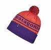 Patagonia Powder Town Beanie Park Stripe: Sumac Red