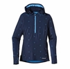 Patagonia Womens All Weather Zip Neck Hoody Navy Blue