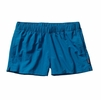 "Patagonia Womens Barely Baggies Shorts 2 1/2"" Bandana Blue"