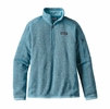 Patagonia Womens Better Sweater 1/4 Zip Fleece Cuban Blue