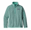 Patagonia Womens Better Sweater 1/4 Zip Fleece Galah Green